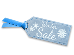 A teal and white sign with the word Special Offer isolated on a white background.